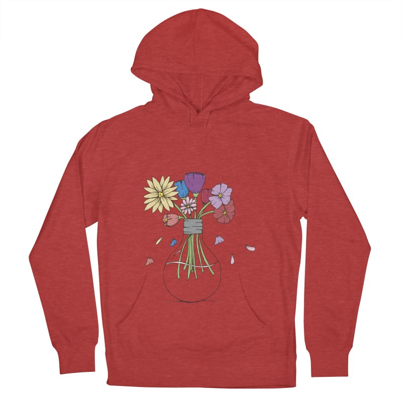 Cut Flowers Women's French Terry Pullover Hoody by Svaeth's Artist Shop