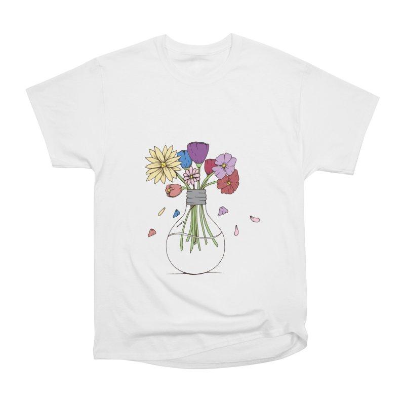 Cut Flowers Women's Heavyweight Unisex T-Shirt by Svaeth's Artist Shop