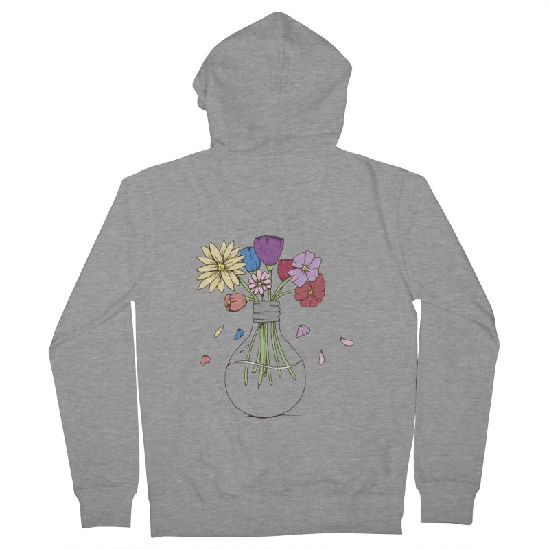 Cut Flowers Men's French Terry Zip-Up Hoody by Svaeth's Artist Shop