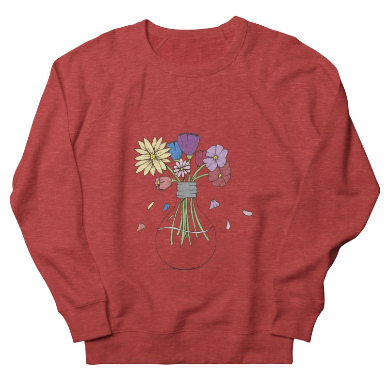 Cut Flowers Men's French Terry Sweatshirt by Svaeth's Artist Shop