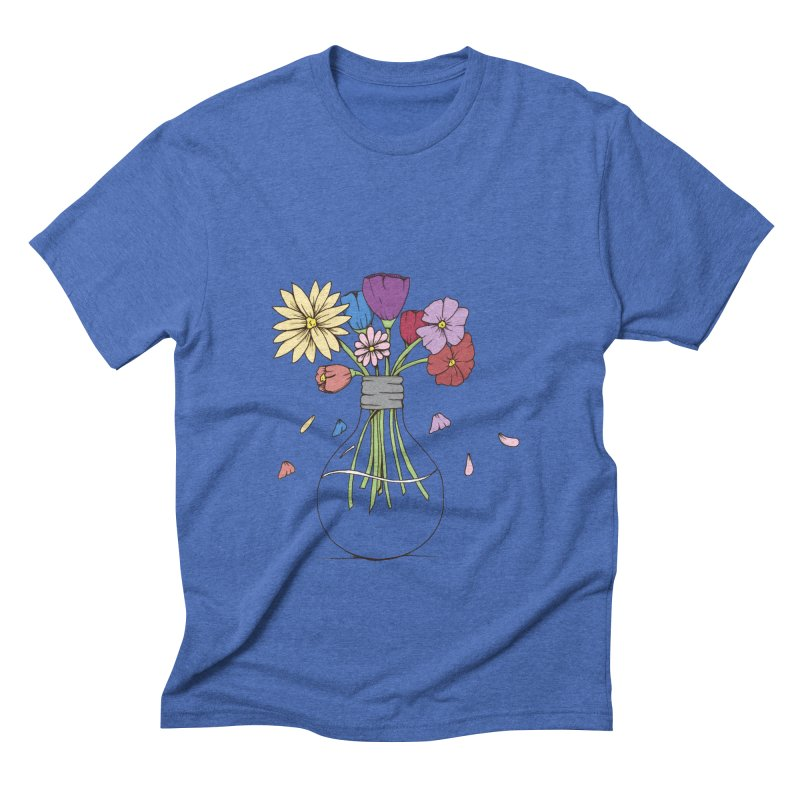 Cut Flowers Men's Triblend T-shirt by Svaeth's Artist Shop