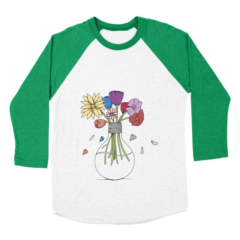 Cut Flowers Women's Baseball Triblend Longsleeve T-Shirt by Svaeth's Artist Shop
