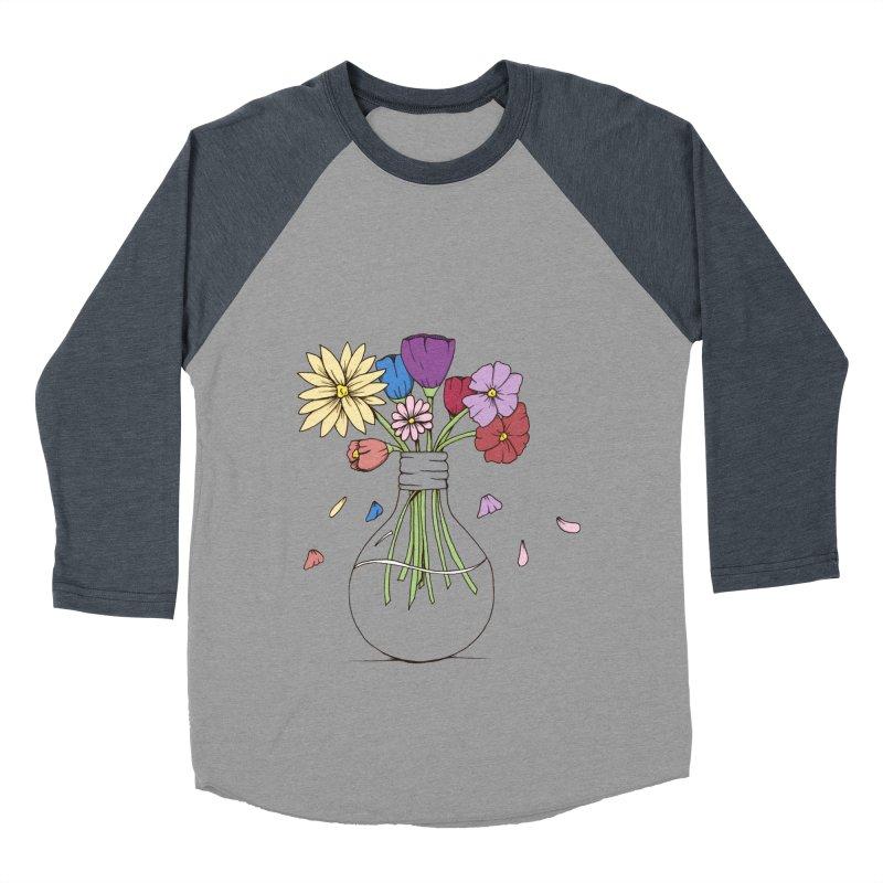 Cut Flowers Men's Baseball Triblend T-Shirt by Svaeth's Artist Shop