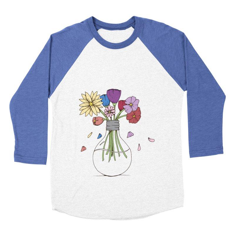 Cut Flowers Men's Baseball Triblend Longsleeve T-Shirt by Svaeth's Artist Shop