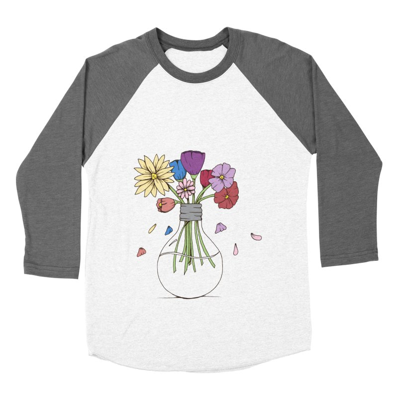 Cut Flowers Men's Baseball Triblend Longsleeve T-Shirt by Svaeth's Artist Shop