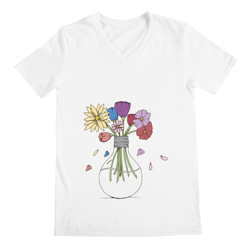 Cut Flowers Men's V-Neck by Svaeth's Artist Shop