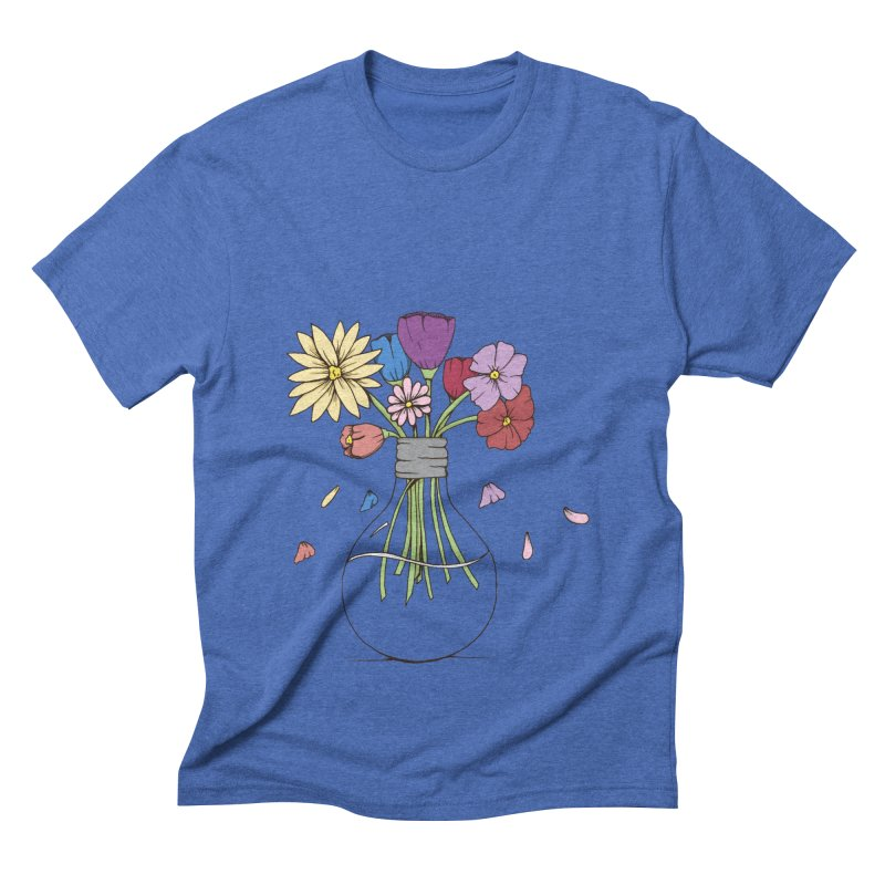 Cut Flowers Men's Triblend T-shirt by Svaeth's Artist Shop