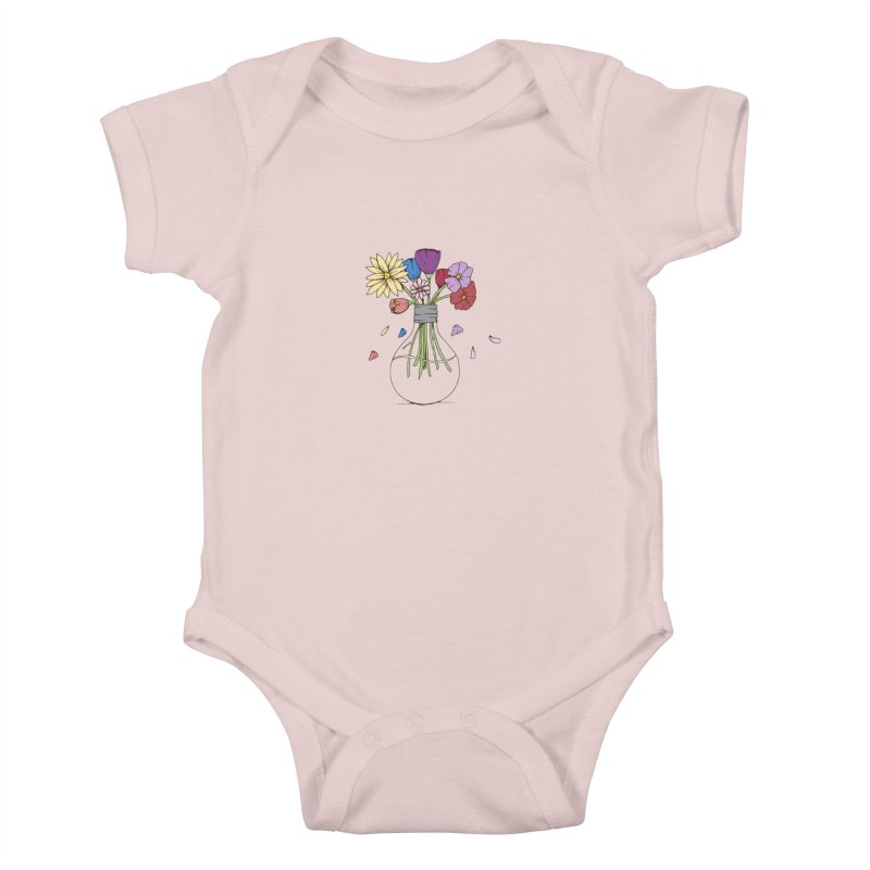 Cut Flowers Kids Baby Bodysuit by Svaeth's Artist Shop
