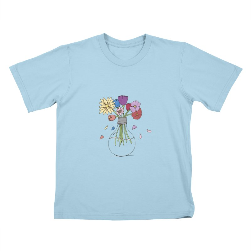 Cut Flowers Kids T-Shirt by Svaeth's Artist Shop