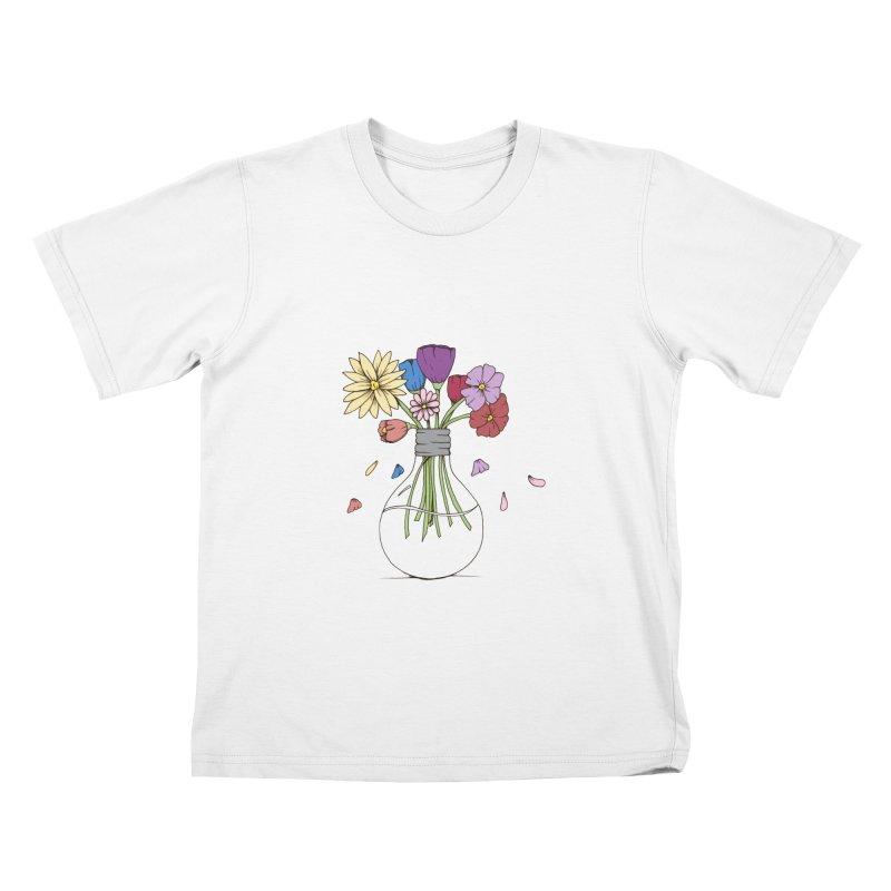 Cut Flowers Kids T-Shirt by Svaeth's Artist Shop