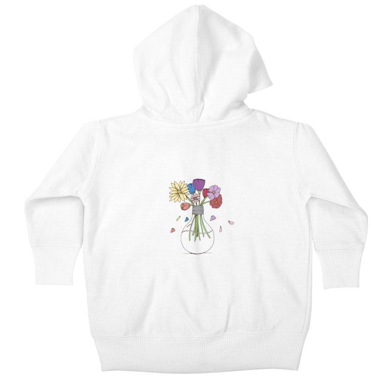 Cut Flowers Kids Baby Zip-Up Hoody by Svaeth's Artist Shop