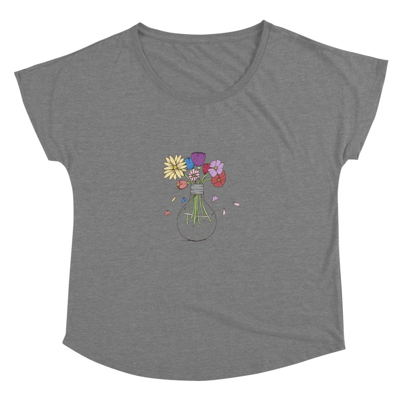 Cut Flowers Women's Scoop Neck by Svaeth's Artist Shop