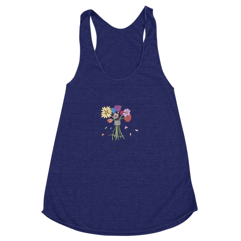 Cut Flowers Women's Racerback Triblend Tank by Svaeth's Artist Shop