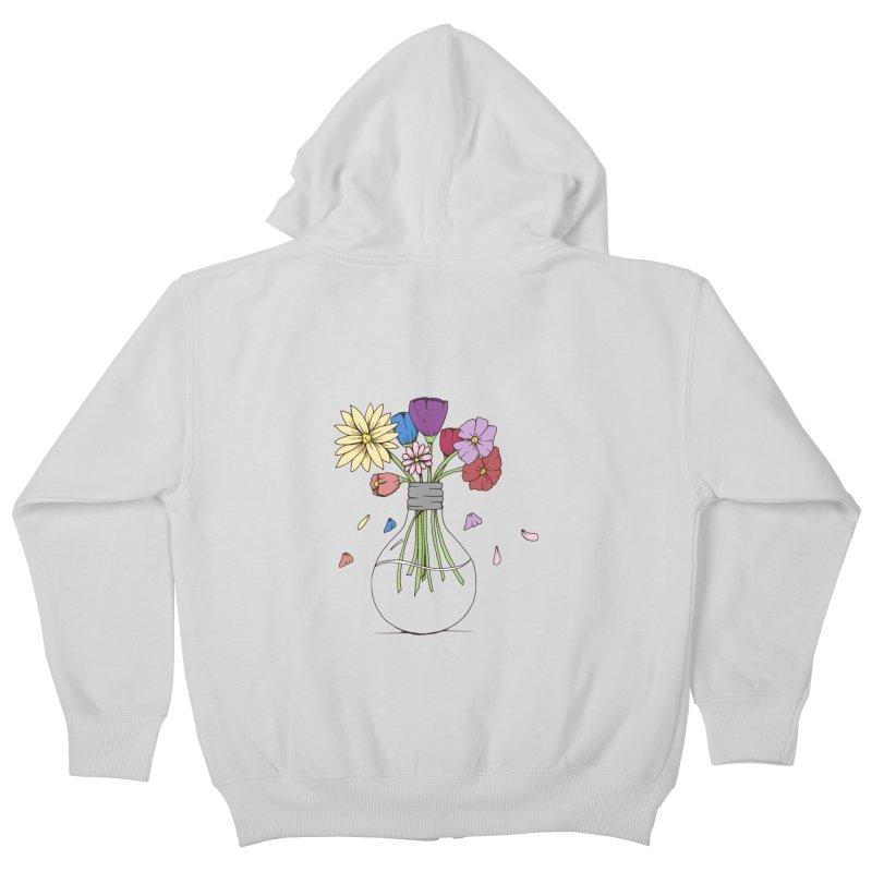 Cut Flowers Kids Zip-Up Hoody by Svaeth's Artist Shop