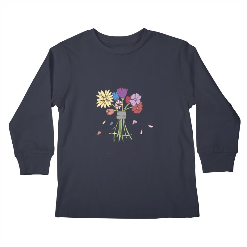 Cut Flowers Kids Longsleeve T-Shirt by Svaeth's Artist Shop