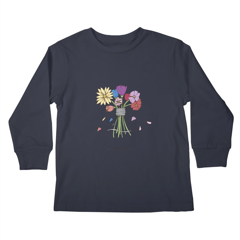 Cut Flowers Kids Longsleeve T-Shirt by Svaeth's Artist Shop