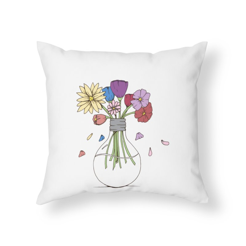 Cut Flowers Home Throw Pillow by Svaeth's Artist Shop