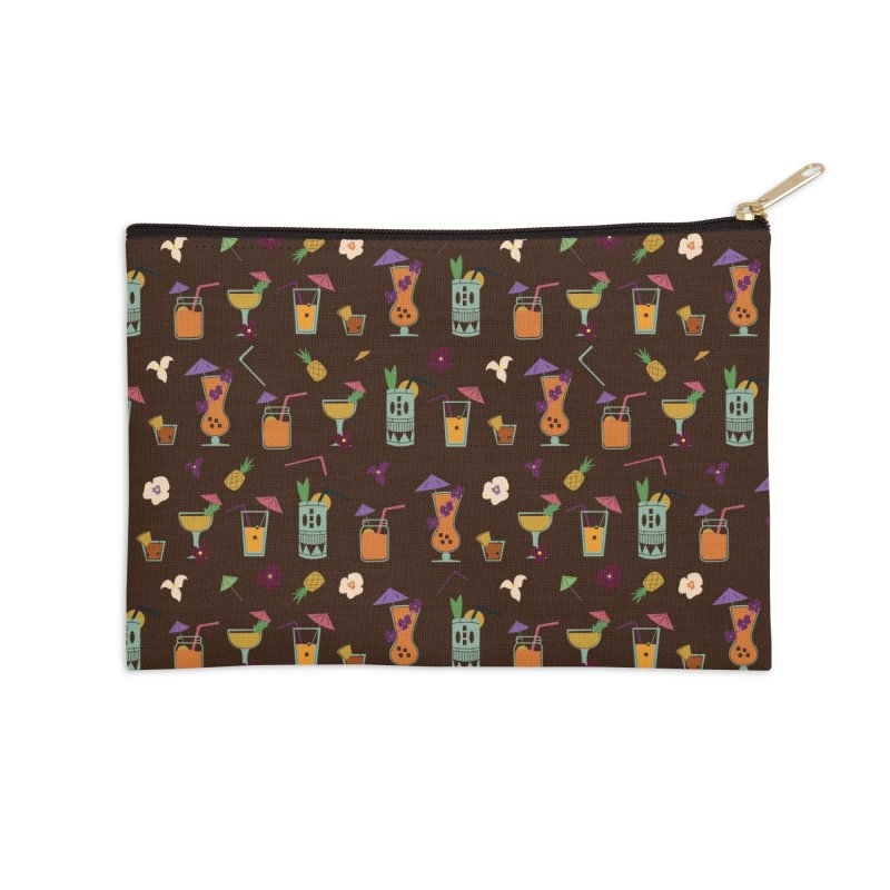Tropical Drinks Accessories Zip Pouch by Svaeth's Artist Shop