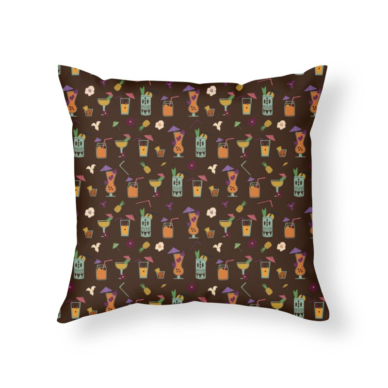 Tropical Drinks Home Throw Pillow by Svaeth's Artist Shop