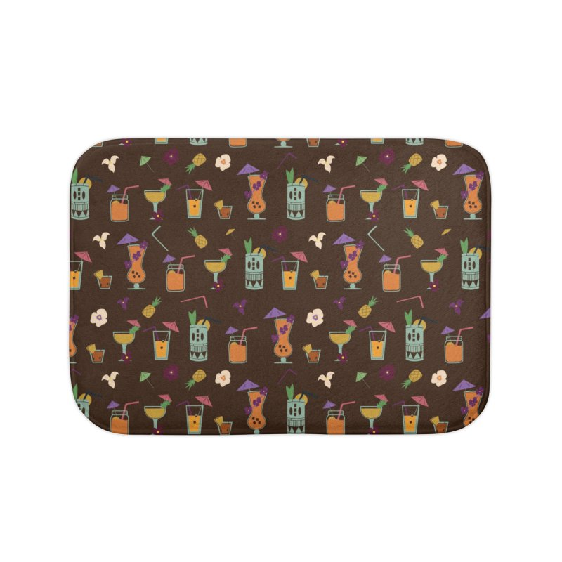 Tropical Drinks Home Bath Mat by Svaeth's Artist Shop