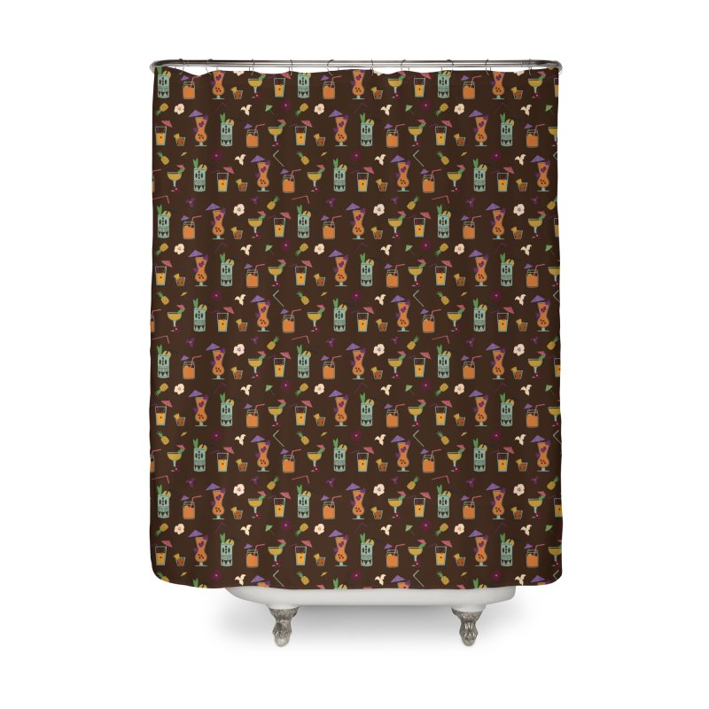 Tropical Drinks Home Shower Curtain by Svaeth's Artist Shop