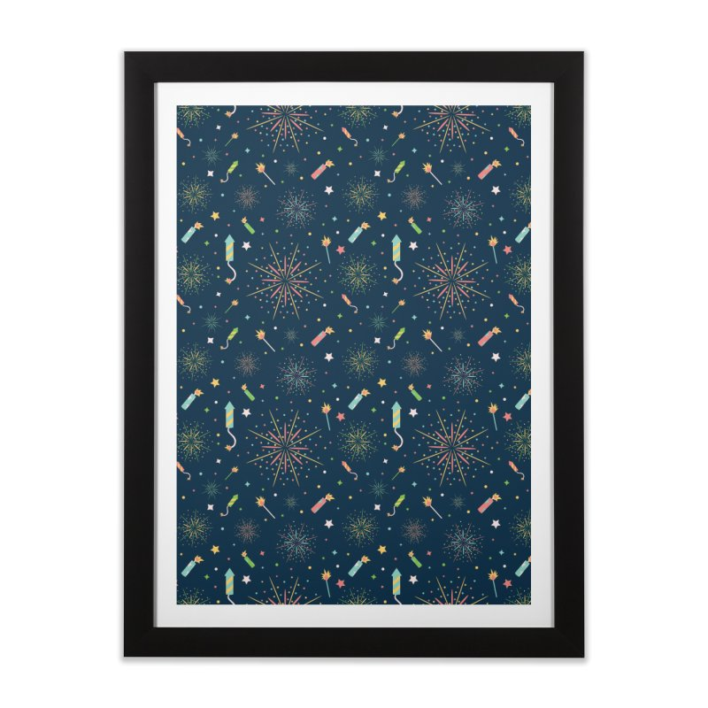 Fireworks Home Framed Fine Art Print by Svaeth's Artist Shop