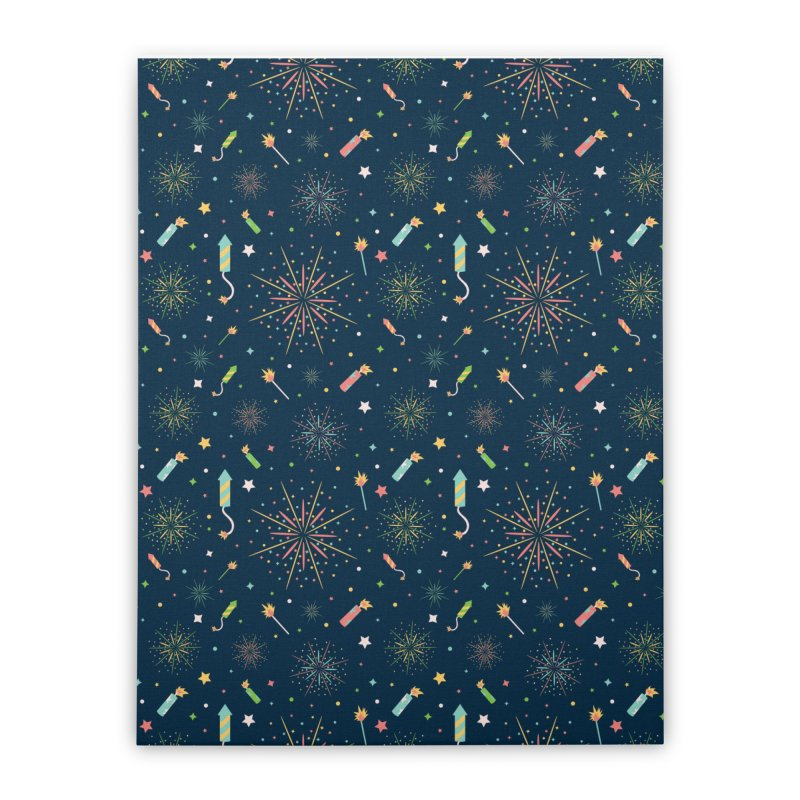 Fireworks Home Stretched Canvas by Svaeth's Artist Shop