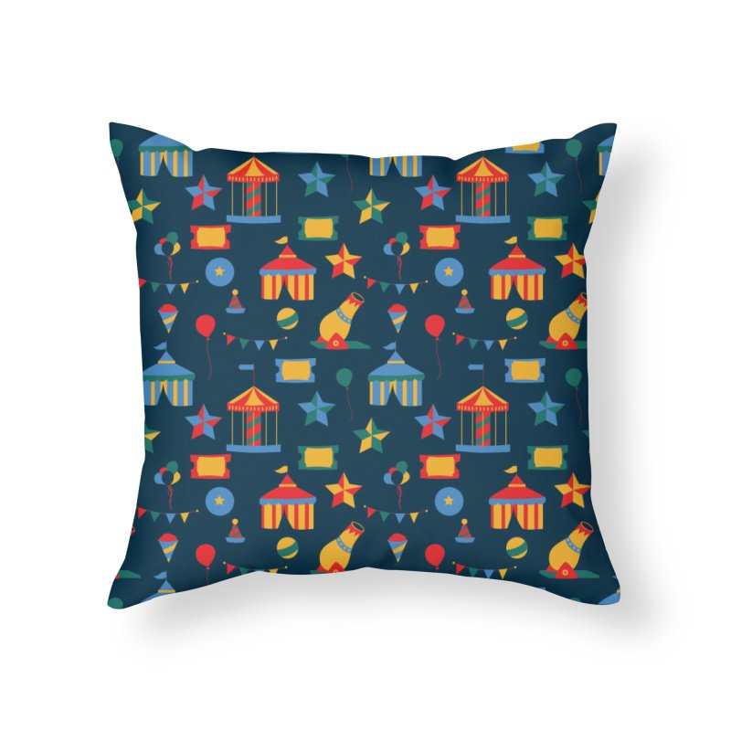 Circus Home Throw Pillow by Svaeth's Artist Shop