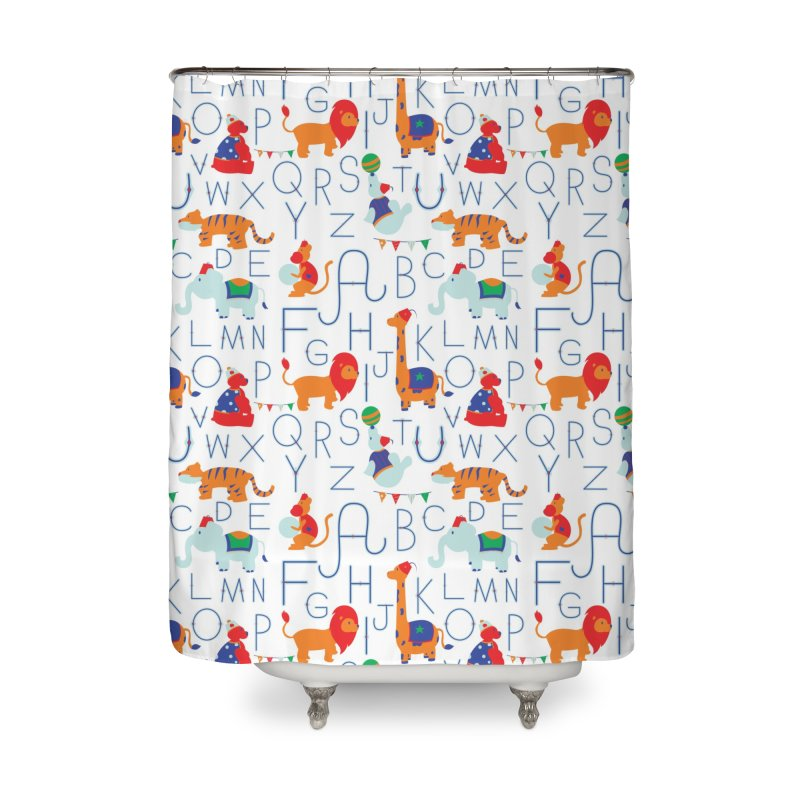 Alphabet Circus Home Shower Curtain by Svaeth's Artist Shop