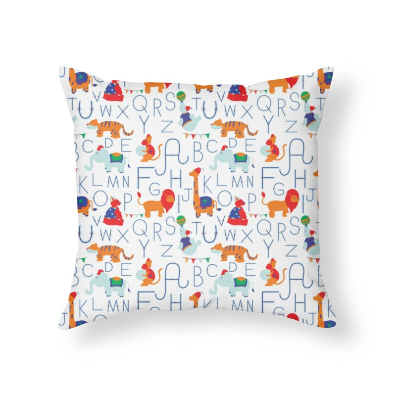 Alphabet Circus Home Throw Pillow by Svaeth's Artist Shop
