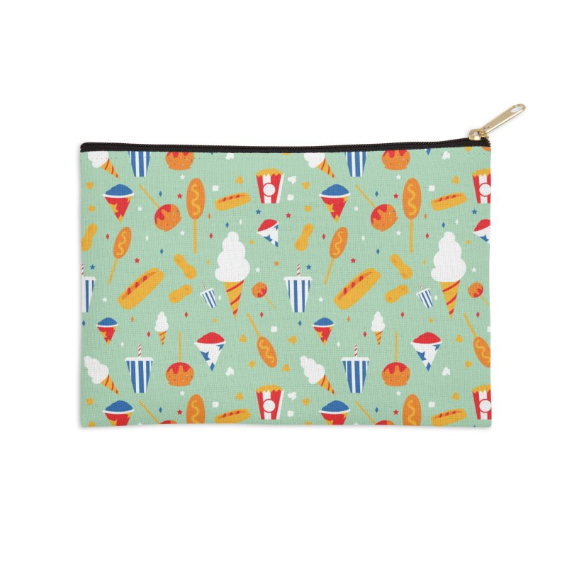 Circus Food Accessories Zip Pouch by Svaeth's Artist Shop