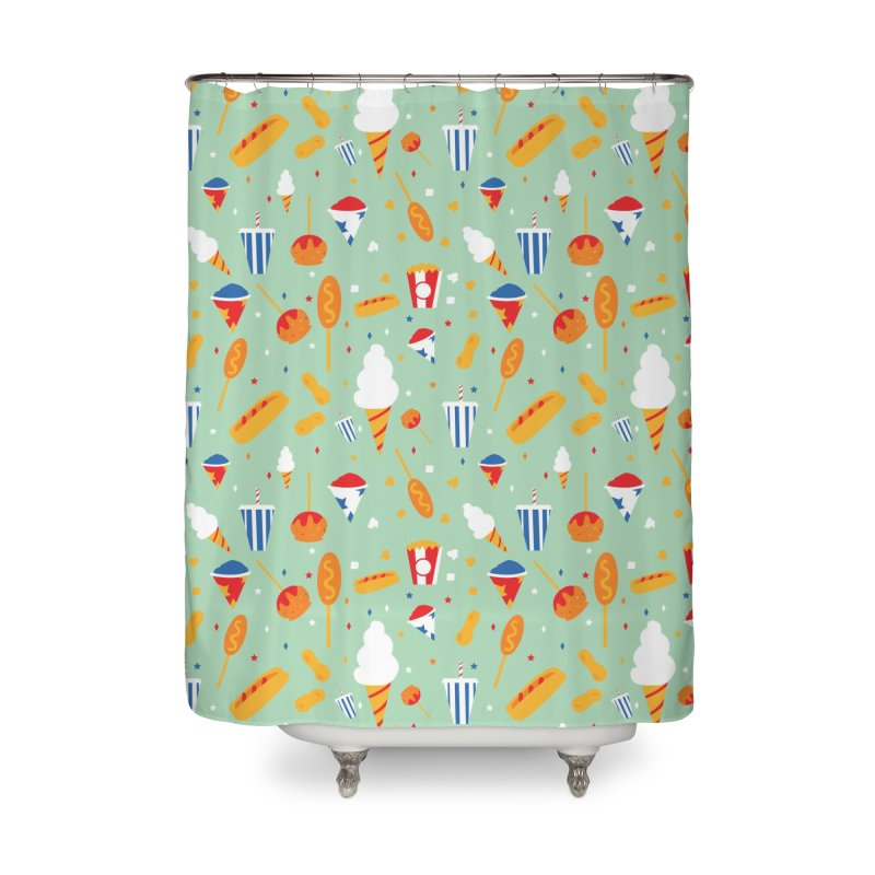 Circus Food Home Shower Curtain by Svaeth's Artist Shop