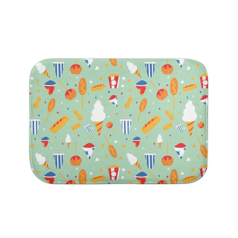 Circus Food Home Bath Mat by Svaeth's Artist Shop