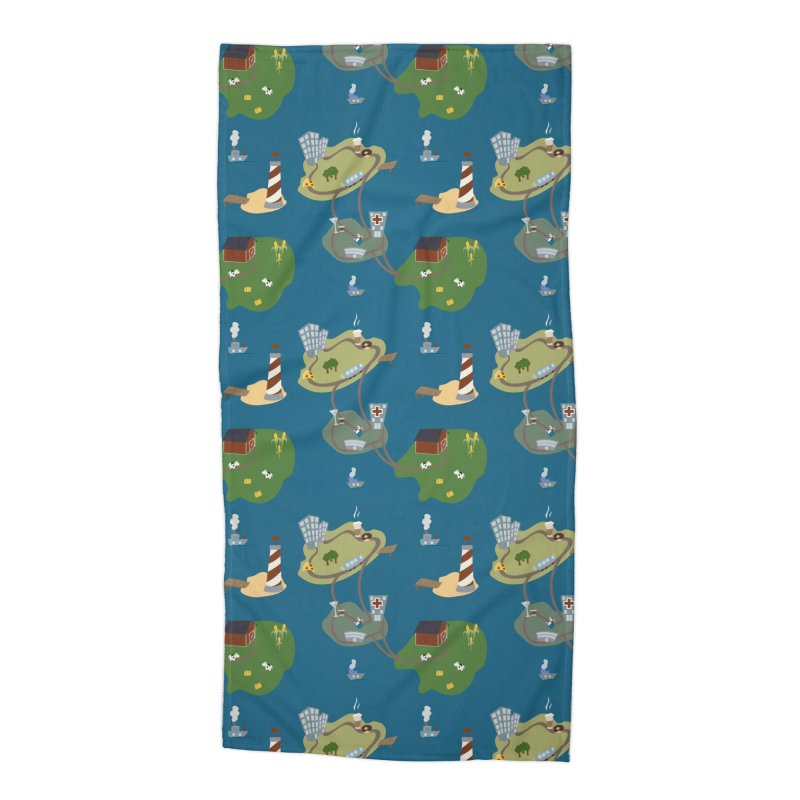 Exploration Accessories Beach Towel by Svaeth's Artist Shop