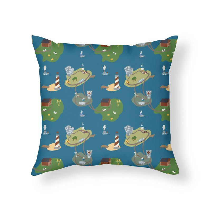 Exploration Home Throw Pillow by Svaeth's Artist Shop