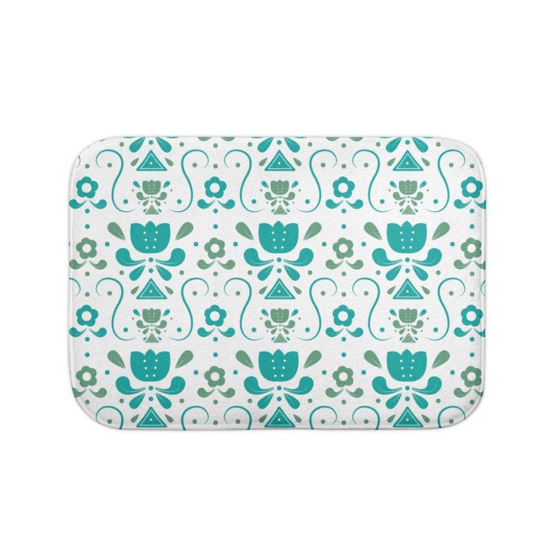 Floral Home Bath Mat by Svaeth's Artist Shop