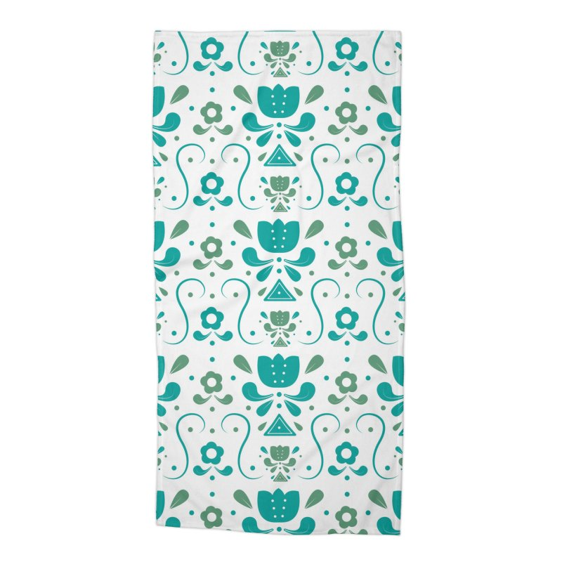 Floral Accessories Beach Towel by Svaeth's Artist Shop