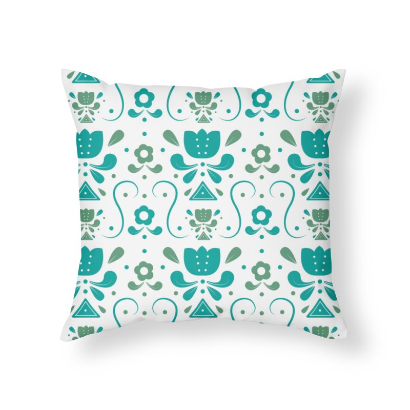 Floral Home Throw Pillow by Svaeth's Artist Shop