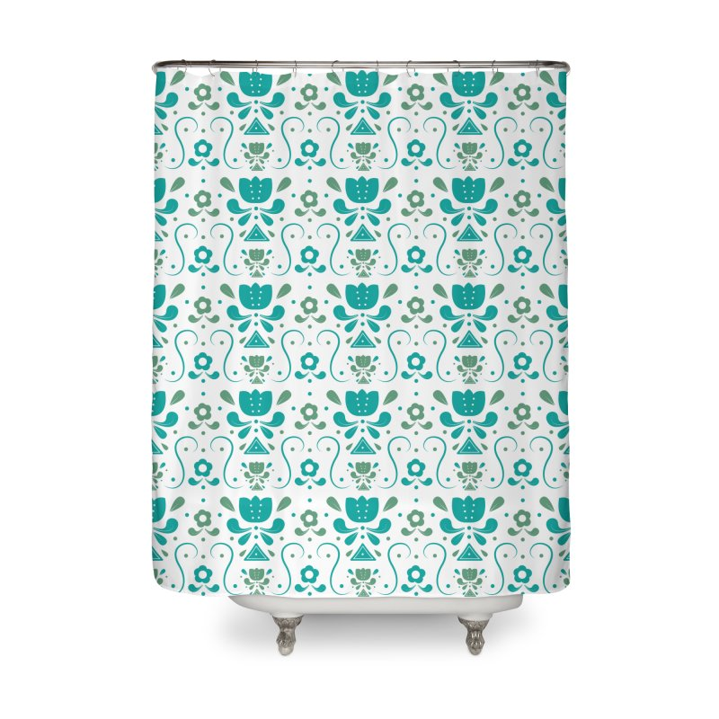 Floral Home Shower Curtain by Svaeth's Artist Shop
