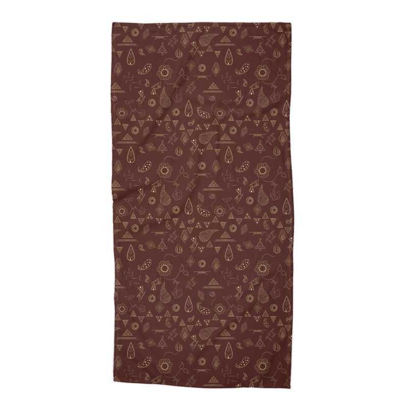 Boho Accessories Beach Towel by Svaeth's Artist Shop