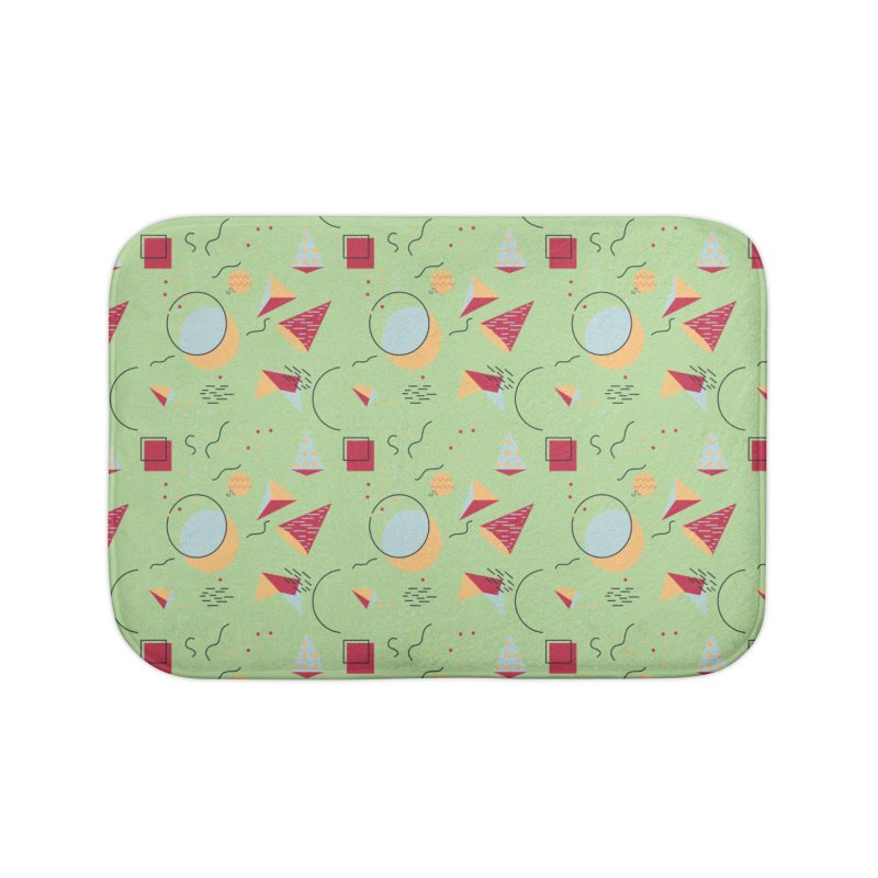 Memphis Style Home Bath Mat by Svaeth's Artist Shop