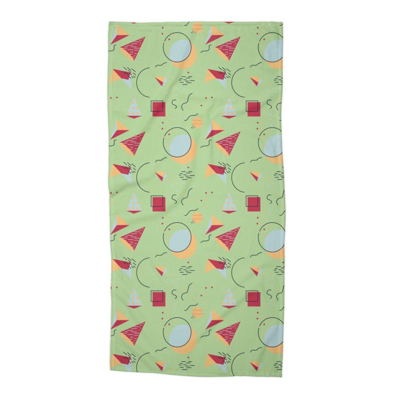 Memphis Style Accessories Beach Towel by Svaeth's Artist Shop