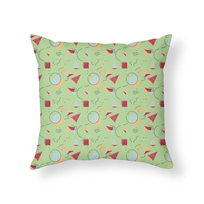Memphis Style Home Throw Pillow by Svaeth's Artist Shop