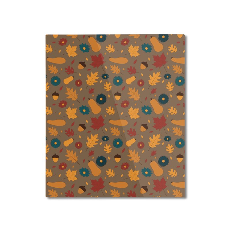 Autumn Home Mounted Aluminum Print by Svaeth's Artist Shop