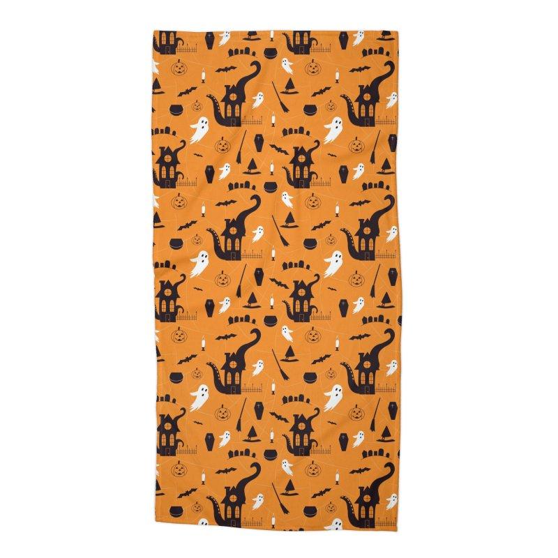Halloween Accessories Beach Towel by Svaeth's Artist Shop