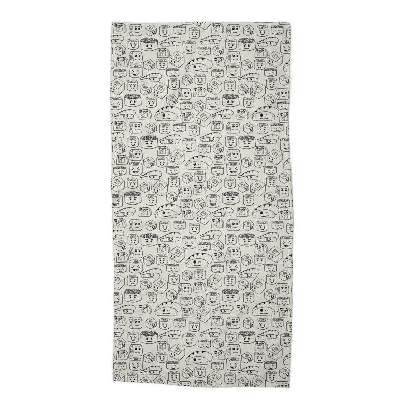 Sushi Accessories Beach Towel by Svaeth's Artist Shop