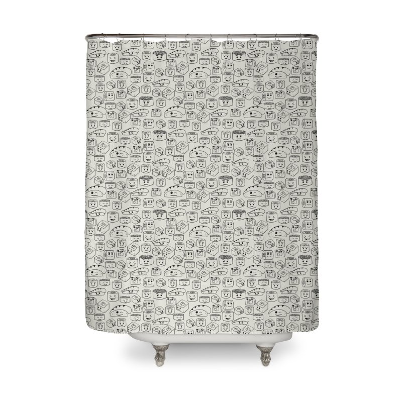 Sushi Home Shower Curtain by Svaeth's Artist Shop