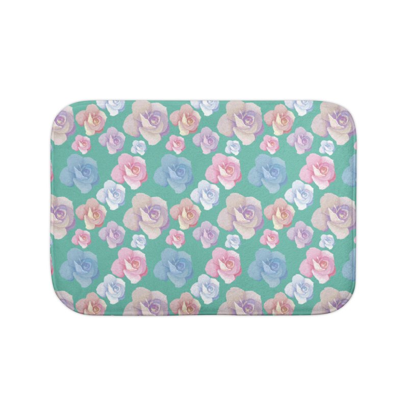 Roses Home Bath Mat by Svaeth's Artist Shop