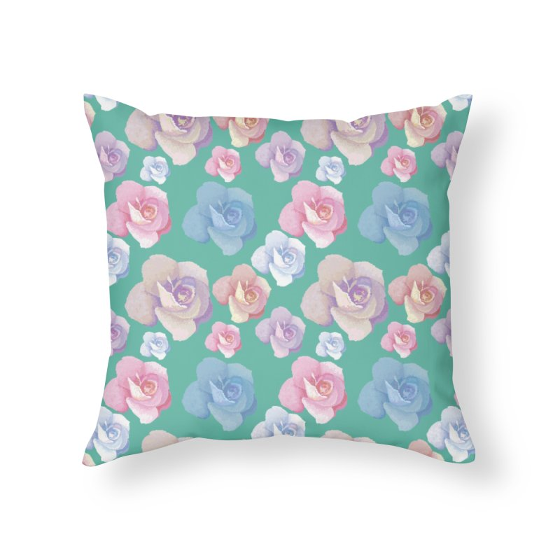 Roses Home Throw Pillow by Svaeth's Artist Shop