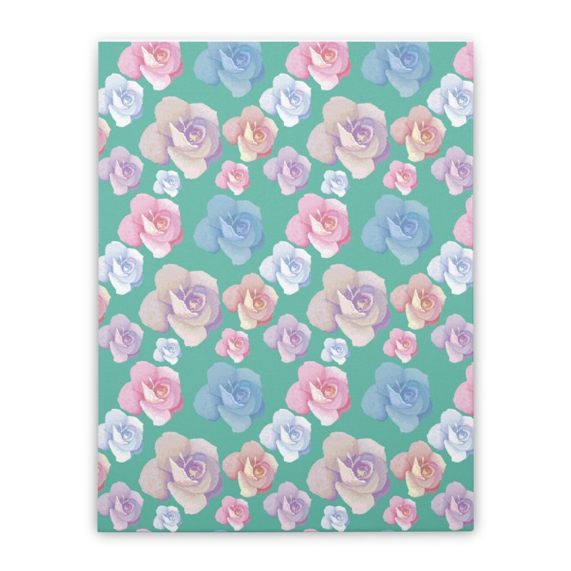 Roses Home Stretched Canvas by Svaeth's Artist Shop